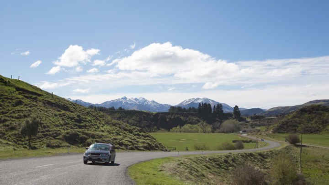 Car in Hurunui landscape